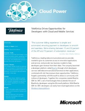Telefónica Drives Opportunities for Developers with Cloud and Mobile Services