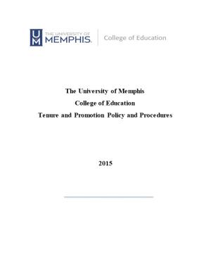 Tenure and Promotion Policy and Procedures