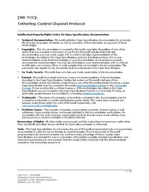 Tethering Control Channel Protocol