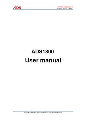 Thank You for Purchasing ADS1800(OBDII Scanner ). This Manual (Android Version) Contains