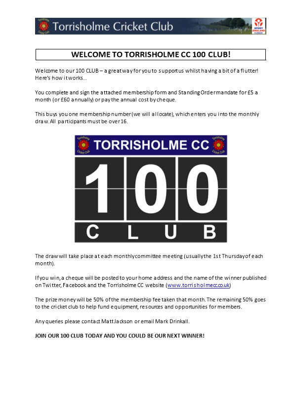 The 100 Club Is Being Resurrected to Support Coaching for Our Ever Expanding Junior Section