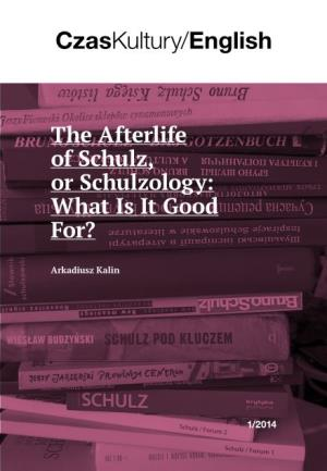 The Afterlife of Schulz, Or Schulzology: What Is It Good For?