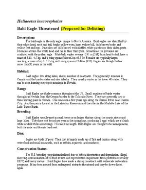 The Bald Eagle Is the Only Eagle Unique to North America. Bald Eagles Are Identified By