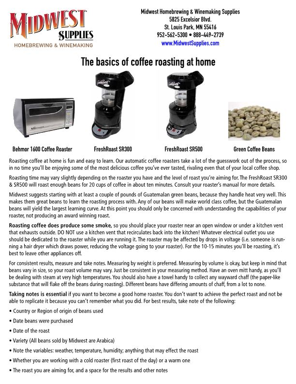 The Basics of Coffee Roasting at Home