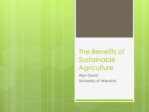 The Benefits of Sustainable Agriculture