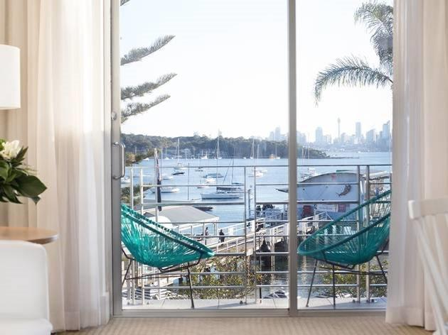 View of ocean at Watsons Bay Hotel