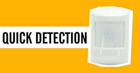 Ecolink Z Wave Plus PIR Motion Detector PIRZWAVE2 5 ECO is the quickest to detect motion