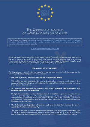 The Charter for Equality