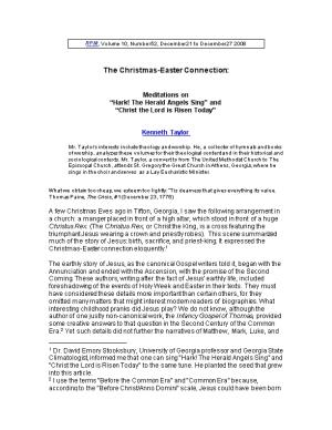 The Christmas-Easter Connection: Meditations On