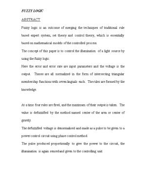 The Concept of This Paper Is to Control the Illumination of a Light Source by Using The