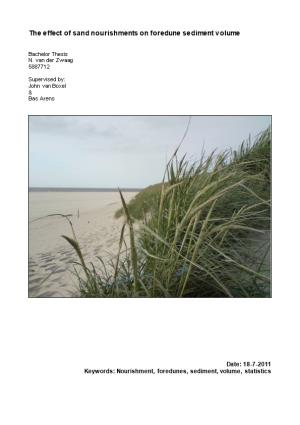 The Effect of Sand Nourishments on Foredune Sediment Volume