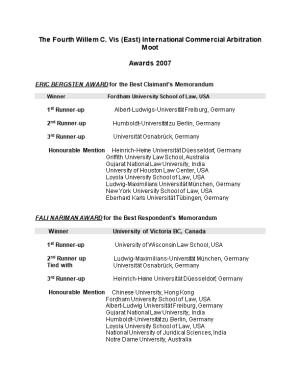 The Fourth Willem C. Vis (East) International Commercial Arbitration Moot