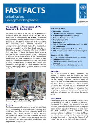 The Gaza Strip - Facts, Figures and UNDP'S Response to the Ongoing Crisis