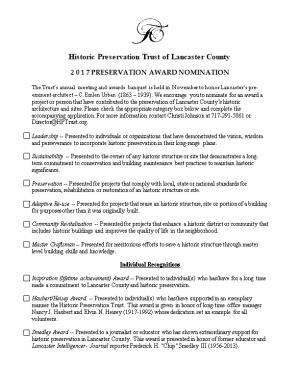 THE HISTORIC PRESERVATION TRUST of Lancaster County