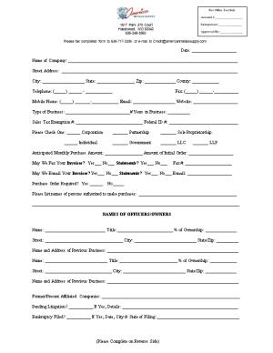 The Information Contained in This Application Is Provided for the Purpose of Obtaining