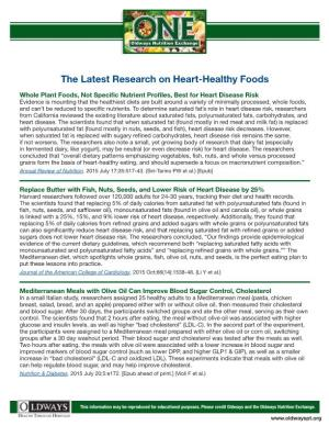 The Latest Research on Heart-Healthy Foods