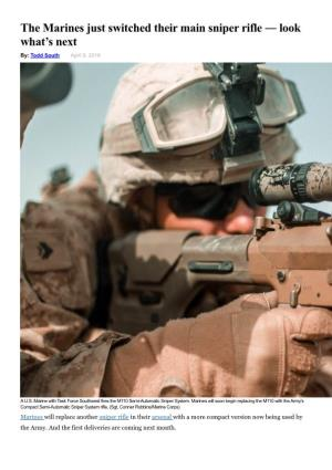 The Marines Just Switched Their Main Sniper Rifle ― Look What'S Next