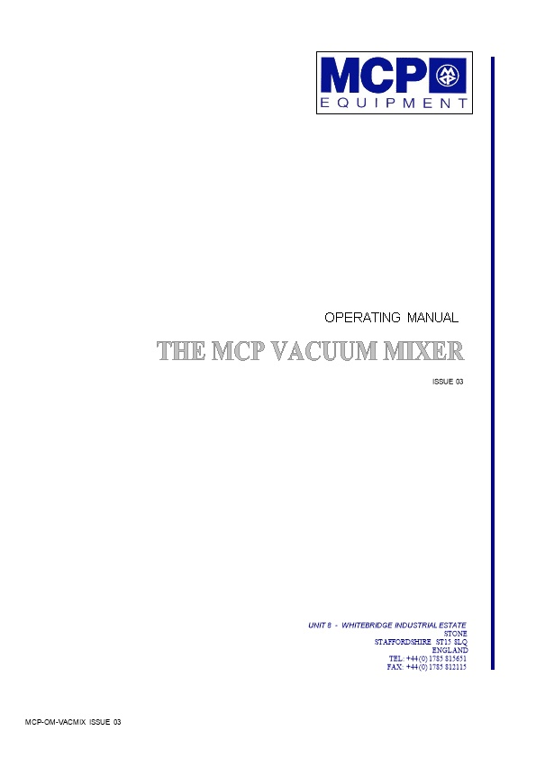 The Mcp Vacuum Mixer