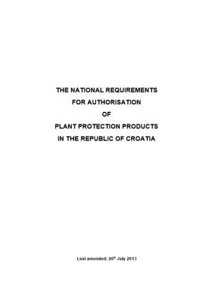The National Requirements