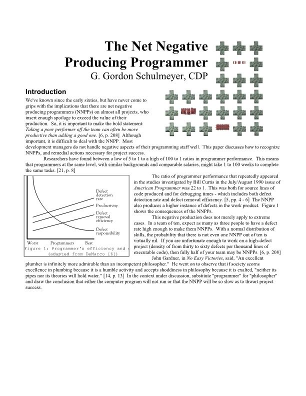 The Net Negative Producing Programmer