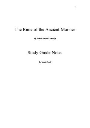 The Rime of the Ancient Mariner- by Samuel Taylor Coleridge