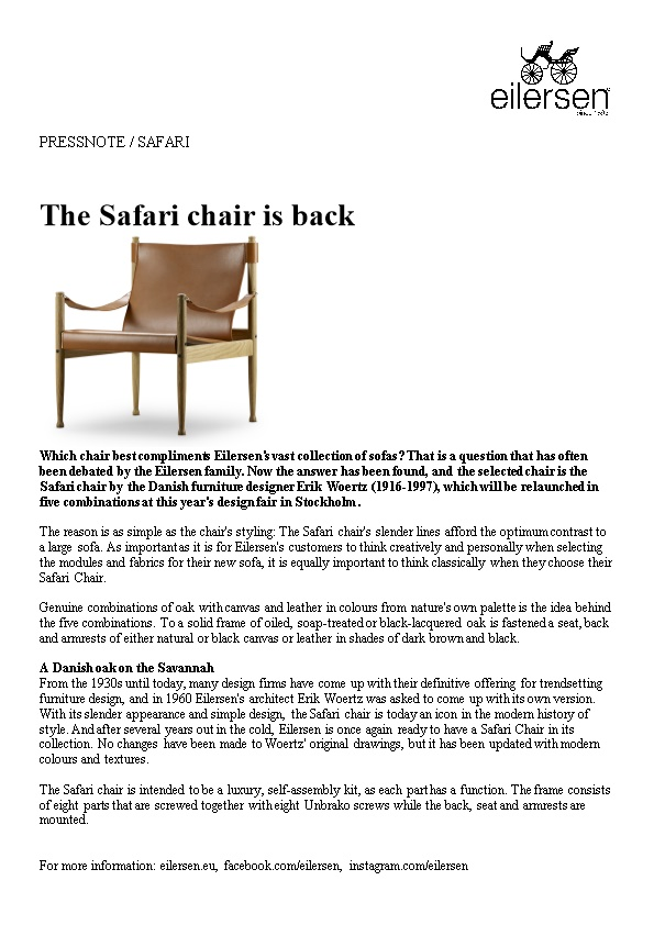 The Safari Chair Is Back