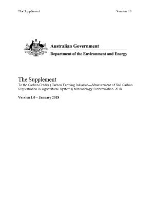 The Supplement to the Carbon Credits (Carbon Farming Initiative Measurement of Soil Carbon