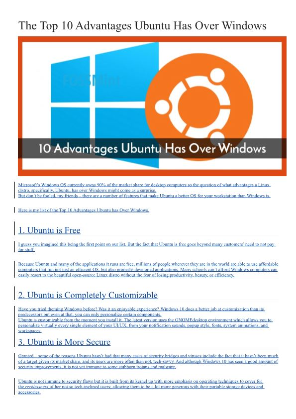 The Top 10 Advantages Ubuntu Has Over Windows