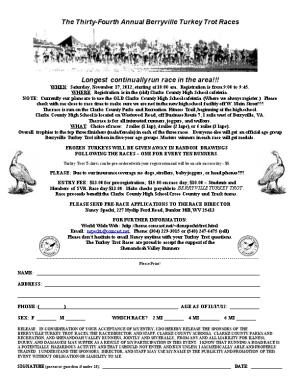 The Twentieth Annual Berryville Turkey Trot Races