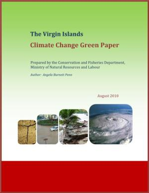 The Virgin Islands Climate Change Green Paper