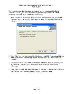 This Document Describes the Steps Necessary to Convert the Default SQL Server Databases