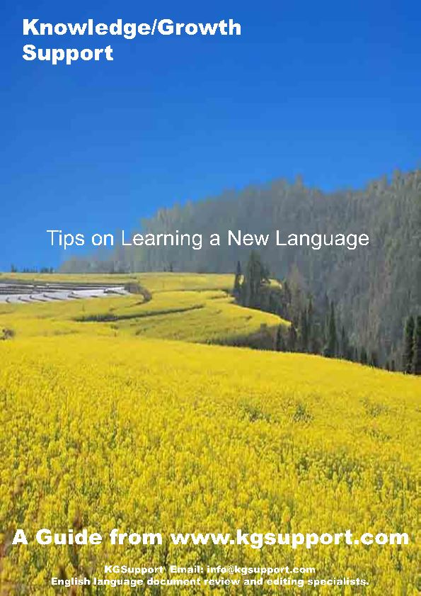 Tips on Learninga New Language