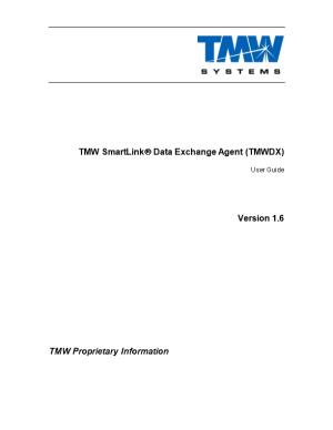 TMW Smartlink Data Exchange Agent (TMWDX)