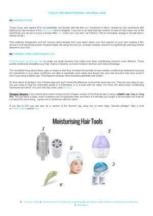 Tools for Moisturising Natural Hair