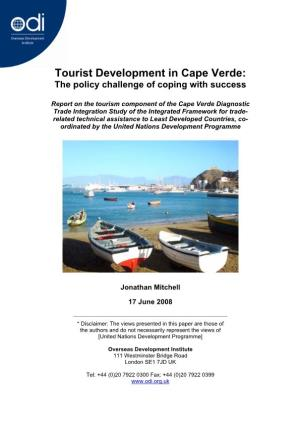Tourist Development in Cape Verde