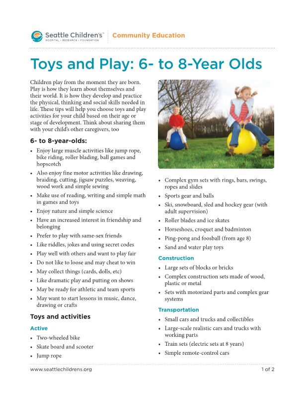 Toys and Play: 6- to 8-Year Olds