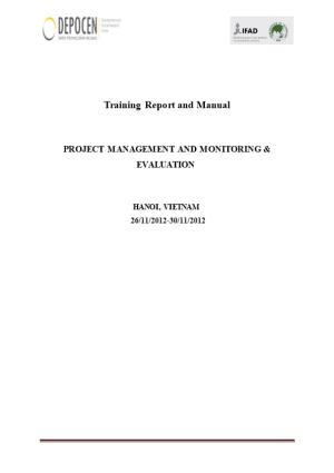 Training Report and Manual