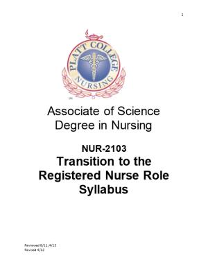 Transition to the Registered Nurse Role