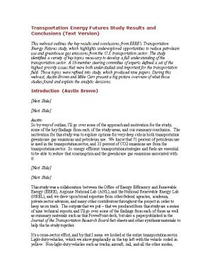 Transportation Energy Futures Study Results and Conclusions WEBINAR 5-2-13.05 PM