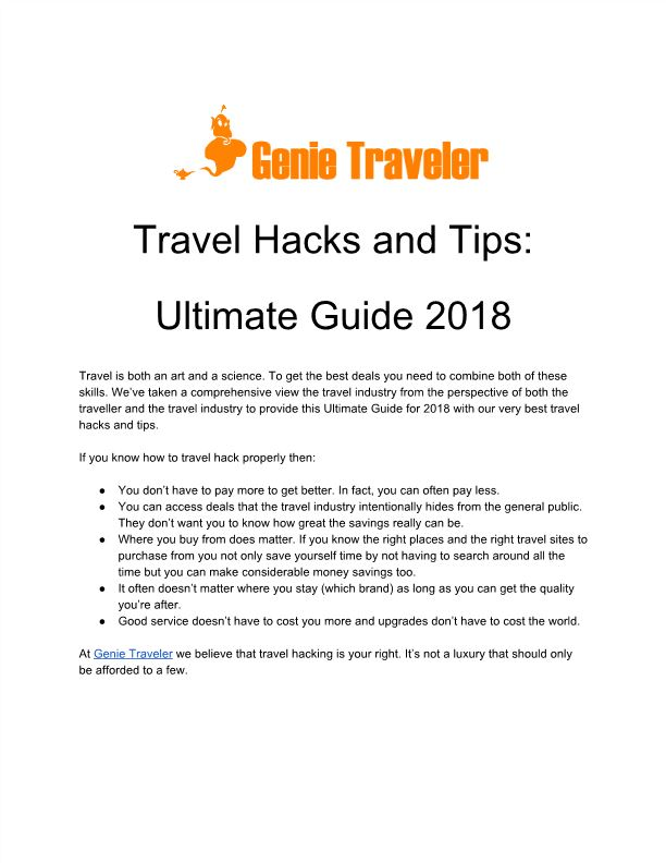 Travel Hacks and Tips: Ultimate Guide 2018