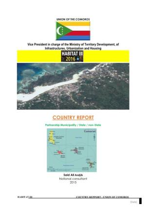 Union of the Comoros Country Report