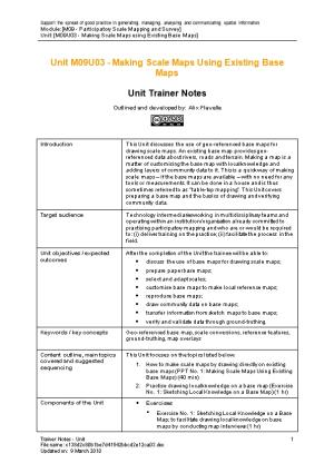 Unit Trainer Notes - Making Scale Maps Using Existing Base Maps