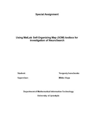 Using Matlab Self-Organizing Map (SOM) Toolbox for Investigation of Neurosearch