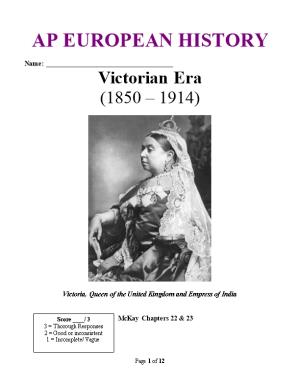 Victoria, Queen of the United Kingdom and Empress of India