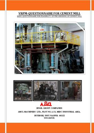 Vrpm-Questionnaire for Cement Mill