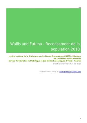 Wallis and Futuna - Recensement De La Population 2018