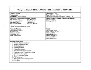 Waqtc Executive Committee Meeting Minutes