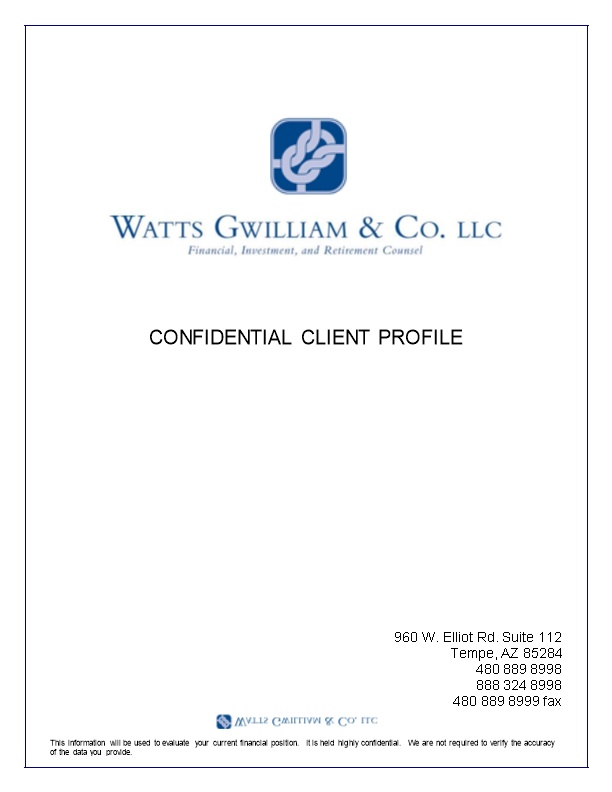 Watts Gwilliam & Co. - Financial, Investment and Retirement Counsel .:. Privacy Pledge