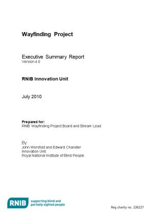 Wayfinding Report - Summary