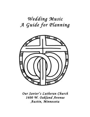 Wedding Music a Guide for Planning